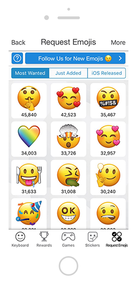 EmojiXpress - mobile app created by YOPESO